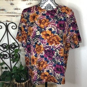 Laura and Jayne silk floral print blouse